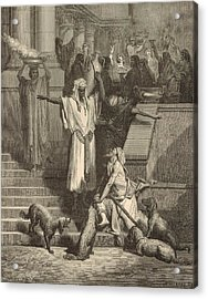 Lazarus And The Rich Man Acrylic Print by Antique Engravings