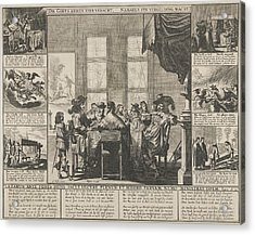 Lazarus And The Rich Man, Pieter Nolpe Acrylic Print by Pieter Nolpe And Claes Jansz. Visscher (ii)