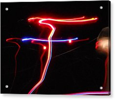 Lazer Fusion No.4 Acrylic Print by James Welch