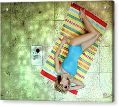 Lazing By Hockney\'s Swimming Pool Acrylic Print