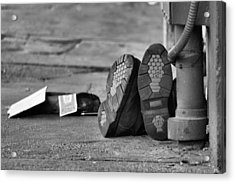 Lazy Beggar In Black And White Acrylic Print