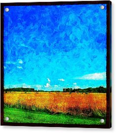 Lazy Clouds In The Summer Sun Acrylic Print