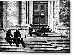 Lazy Day In Roma Acrylic Print by John Rizzuto