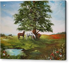 Acrylic Print featuring the painting Lazy Days In Summer by Jean Walker