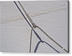 Acrylic Print featuring the photograph Lazy Jack-shadow And Sail by Marty Saccone
