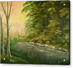 Acrylic Print featuring the painting Lazy River by Chris Fraser