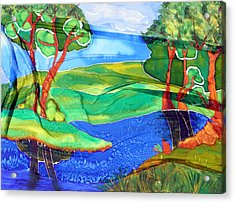 Lazy River Silk Acrylic Print