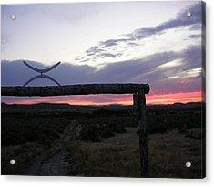 Lazy X Sunset Acrylic Print by Barry Bridges