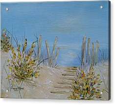 Acrylic Print featuring the painting Lbi Peace by Judith Rhue