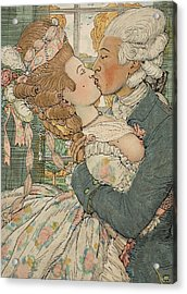Le Baiser Acrylic Print by Konstantin Andreevic Somov