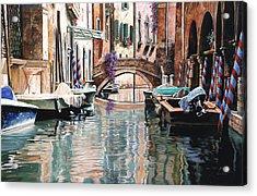 Le Barche E I Pali Colorati Acrylic Print