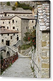Le Celle Outside Cortona Italy Acrylic Print by Sally Ross