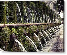 Le Cento Fontane The Hundred Fountains  At Villa D'este Gardenst Acrylic Print