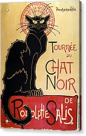 Le Chat Noir Acrylic Print by Georgia Fowler