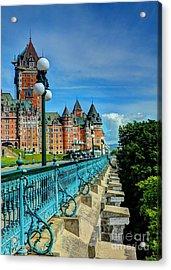 Le Chateau Frontenac Acrylic Print