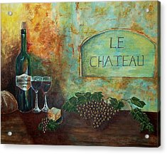 Le Chateau Acrylic Print by Tamyra Crossley