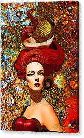 Le Cheveux Rouges Acrylic Print by Chuck Staley