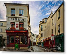 Le Consulat Acrylic Print by Inge Johnsson