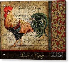 Le Coq-c Acrylic Print by Jean Plout