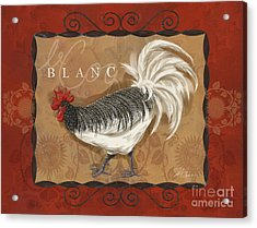 Le Coq Rooster Blanc Acrylic Print