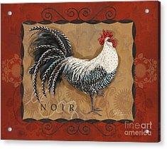 Le Coq Rooster Noir Acrylic Print