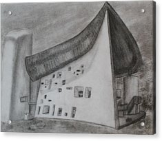 Acrylic Print featuring the drawing Le Corbusier by Thomasina Durkay