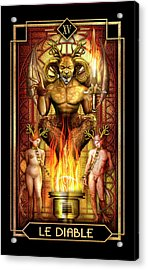 Acrylic Print featuring the drawing Le Diable by Ciro Marchetti