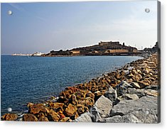 Le Fort Carre - Antibes - France Acrylic Print by Christine Till