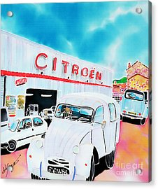 Le Garage Acrylic Print