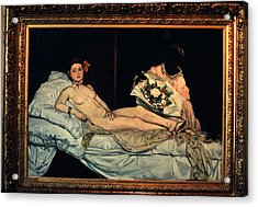Le Grande Odalisque By Ingre Acrylic Print by Carl Purcell