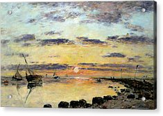 Le Havre Acrylic Print by Eugene Louis Boudin