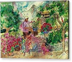 Le Jardiniere Acrylic Print