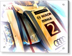 Le Mans 2013 Audi E-tron Quatro R18h Acrylic Print by Olivier Le Queinec