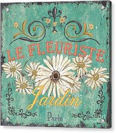 Le Marche Aux Fleurs 6 Acrylic Print by Debbie DeWitt