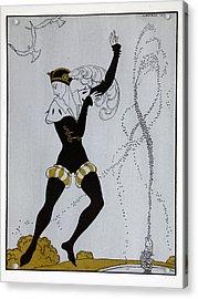 Le Pavillion D'armider Acrylic Print by Georges Barbier