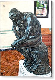 Le Penseur The Thinker Acrylic Print by Tom Roderick