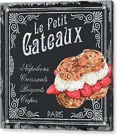 Le Petit Gateaux Acrylic Print by Debbie DeWitt