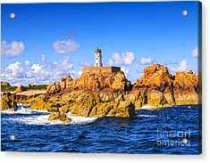 Le Phare Du Paon Lighthouse Brittany Ile De Brehat Acrylic Print by Colin and Linda McKie