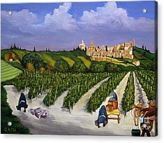 Le Provence Acrylic Print by William Cain