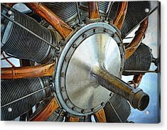 Le Rhone C-9j Engine Acrylic Print by Michelle Calkins