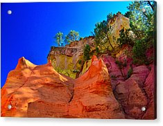 Le Sentier Des Ocres Roussillon France Acrylic Print by Jeff Black