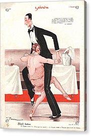 Le Sourire 1926 1920s France  Black Acrylic Print