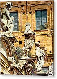 Le Statue Acrylic Print by Guido Borelli