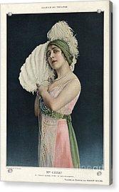 Le Theatre 1912 1910s France Mlle Acrylic Print