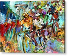 Le Tour De France Madness 02 Acrylic Print