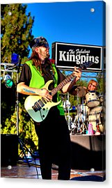 Lead Guitarist Jimmy Dence - The Fabulous Kingpins Acrylic Print by David Patterson