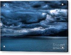 Acrylic Print featuring the photograph Leaden Clouds by Erhan OZBIYIK