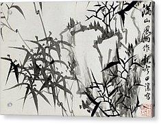 Leaf D Acrylic Print by Rang Tian