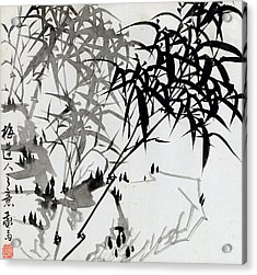 Leaf F Acrylic Print by Rang Tian