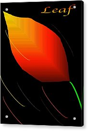 Acrylic Print featuring the digital art Leaf by Gayle Price Thomas